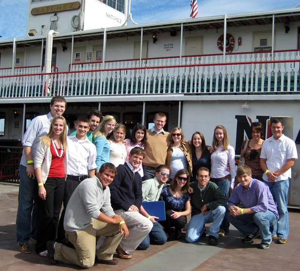 COMPASS students on board the Natchez, a New Orleans riverboat, ready to explore the Mississippi.