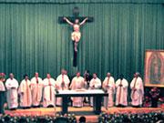 Misa presidida por el Card. Norberto Rivera Carrera en el primer congreso de pastoral de liberación