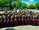 Il gruppo di vescovi che hanno partecipato all'incontro di riflessione.
