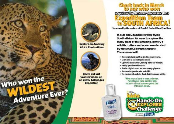 AJ entered this contest to win a spot in the National Geographic Expedition Team to South Africa.