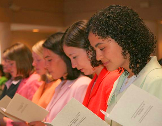 Two years after their initial consecration, the women make their solemn renewal of promises.