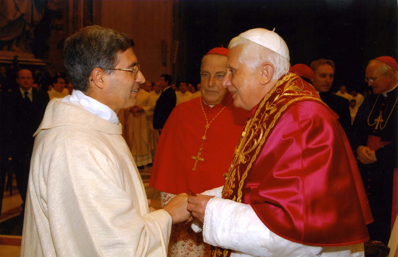 P  Pedro Barrajòn LC a colloquio con Sua Santità