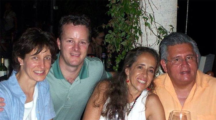 Jon and Cindy Morris with Juan and Lucia Arroyo.