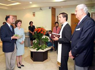 El P. Benjamín Clariond, L.C., bendice las instalaciones de �Familia Unida�, sector Occidente, cuya sede está en la ciudad de Guadalajara.