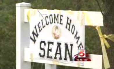 Sean Glanvill's homecoming was welcomed with an outpouring of love by students and families.