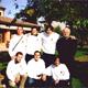 I missionari con il parroco mons. Girolamo Toffanin