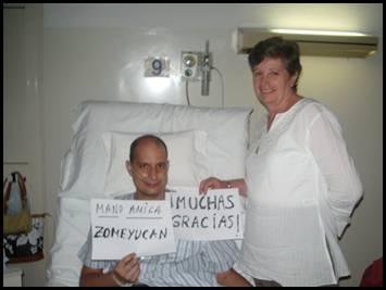José Antonio Medina con su mamá