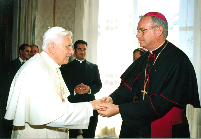 Pope Benedict XVI meets with Bishop Pedro Pablo Elizondo, L.C.