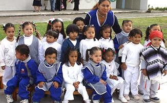 Alumnos del Colegio Mano Amiga.