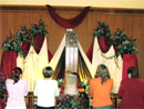 Adoration before the altar of repose on Thursday night