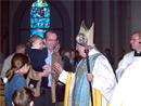 El Cardenal saluda a un futuro miembro de Net