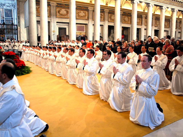More than 50 men who were ordained Catholic priests of the Legionaries of Christ today in Rome.