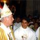 Mons. Emilio Carlos Berlie, Arzobispo de Yucatán y el P. Juan Gabriel Uitz.