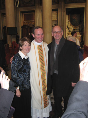 Fr. Jason Smith LC with his parents, Elaine and Doug smith of Forest Lake, Minnesota.