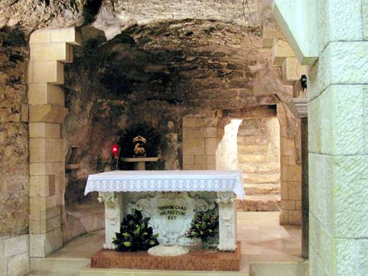 The grotto in Nazareth where the angel Gabriel appeared to Mary. It was here that the Word was made flesh.
