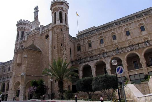 The Notre Dame of Jerusalem Center - where we stayed for 5 nights. It is a beautiful building owed by the Vatican and entrusted by Pope John Paul II to the care of the Legionaries of Christ.