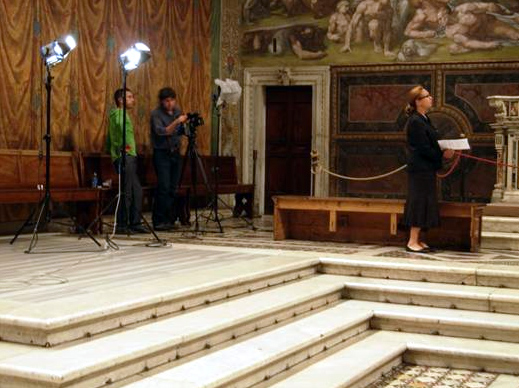 The first episode, The Angels, was filmed in the Sistine Chapel with Elizabeth Lev as the host.