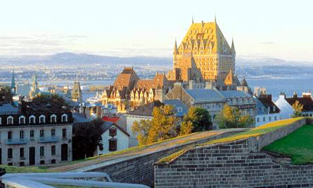 A view of Quebec City, the oldest diocese in North America.