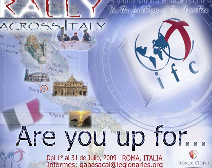 Durante el cursillo se llevará a cabo un rally de 3 días de duración en diversos lugares de Italia.