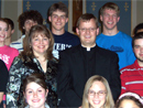 Fr David Kime and Lynn Vershay with a few teens from Youth for Truth.