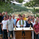 Outdoor Mass overlooking the lake.