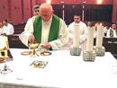 Todos los días los sacerdotes tuvieron la concelebración eucarística.