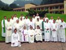 Sacerdotes diocesanos que han participado en uno de los retiros del Centro Pastoral Logos.