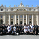 The incoming class of 64 seminarians made an initial visit to St Peter�s Basilica.