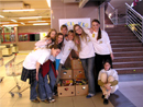 Members of the Flame Girls Club in Bratislava, Slovakia, take part in the Action Kilo food drive.
