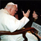 Denise asks for John Paul II�s blessing on the Oakhill School, founded in the year 2000.
