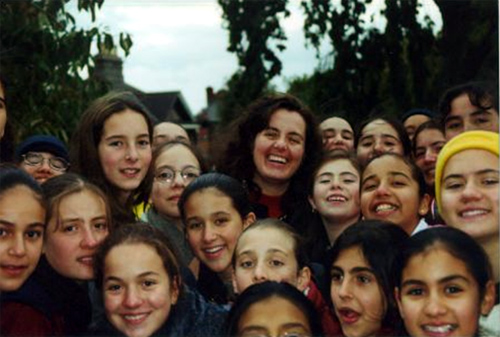 With students of Woodlands Academy, a girls' boarding school in Wicklow, Ireland.