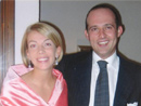 Niccolò Mannetti y su esposa Kate.