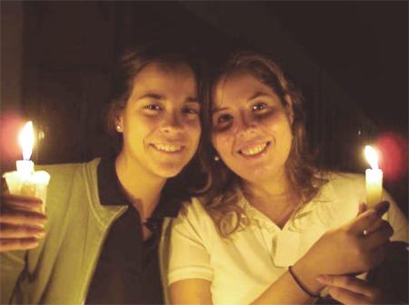 Dos colaboradoras del Regnum Christi: Sofía Martínez y Celina Seaman.