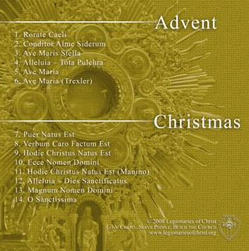 The Advent and Christmas songs capture the spirit of each liturgical season.