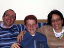 Alfredo Sansone, Ida Giganti e il figlio Roberto.