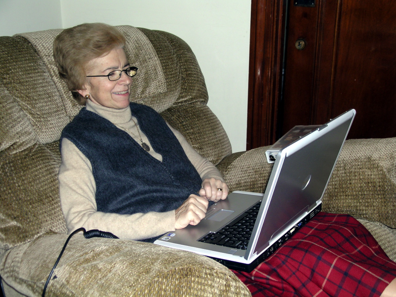 After illness confined her to her room she kept in touch with family and  friends through e-mail