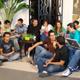 Jóvenes del Regnum Christi, zona centro, de Guadalajara (México) llevando a cabo el primer programa �Joven T.V.�, de María Visión. Les acompaña el P. Enrique Flores, L.C.
