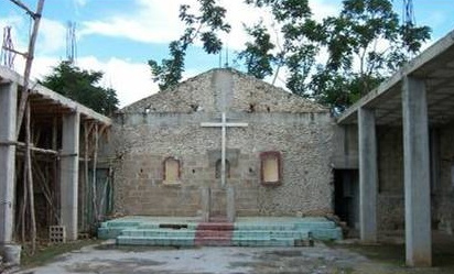 The church in Nuevo Durango BEFORE reconstruction.