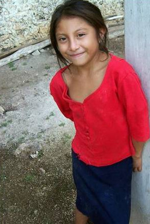 A shy but lovely Mayan girl.