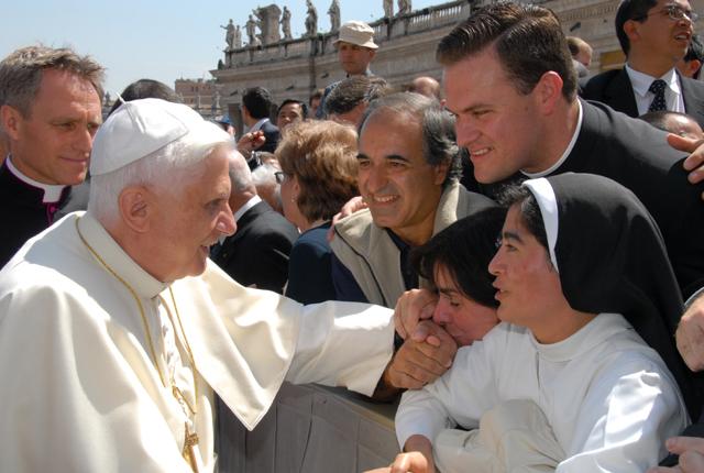 Familia de Argentina con el Papa