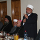 Sheykh Ikrama Sabri, gran Muftì di Gerusalemme, durante le parole alla cena.