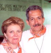 Jorge Ruiz de Esparza y esposa